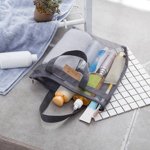 Travel Big Cosmetic Makeup Bag Mesh Bathroom Wash Storage Bags Portable Handbag Beach Bag Kitchen Garlic Ginger Bag | akolzol