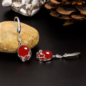 S925 Sterling Silver Earring Natural Ruby Gemstone Jewelry for Women Fine Orecchini Silver 925 Jewelry Garnet Earring for Female (Red SILVER) | 925, Earring, Female, Fine, for, Garnet, Gemstone, Jewelry, Natural, Orecchini, Ruby, Silver, Sterling, Women | akolzol