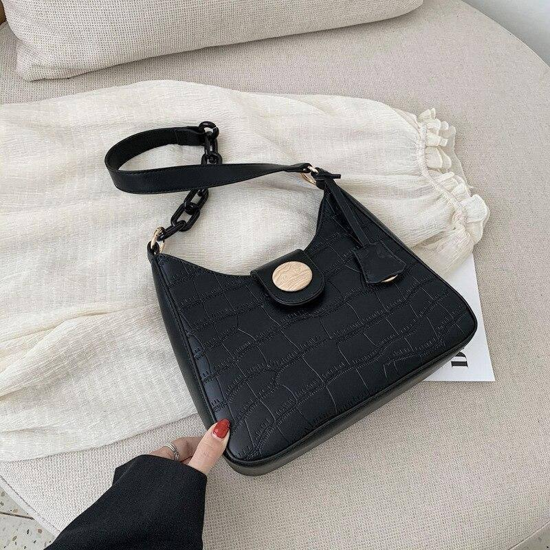 Stone Pattern PU Leather Small Half Moon Bags For Women 2020 Trending Fashion Chain Design Shoulder Handbags Women's Hand Bag | 2020, Bag, Bags, Chain, Design, Fashion, For, Half, Hand, Handbags, Leather, Moon, Pattern, PU, Shoulder, Small, Stone, Trending, Women, Womens | akolzol