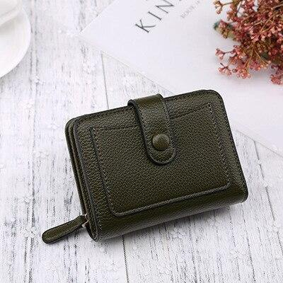 Mini Lychee Pattern Pu Leather Women's Wallets Fashion Female Trending Multifunctional Solid Color Purses | akolzol