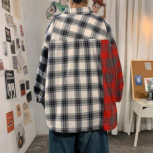 Autumn Cotton Plaid Shirt Men's Fashion Hit Color Retro Casual Shirts Mens Streetwear Loose Korean Long-sleeved Shirt Men M-5XL | Autumn, Casual, Color, Cotton, Fashion, Hit, Korean, Longsleeved, Loose, man fashion, Men, Men Shirt, Mens, Plaid, Retro, Shirt, Shirts, Streetwear, XL | akolzol