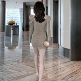 New Autumn Woman Sexy Dress  Long Sleeve Pleated Slimming Square Collar Vintage Dresses For Women 2020 Fashion Women's Clothing | 2020, Autumn, Clothing, Collar, Dress, Dresses, Fashion, For, Long, New, Pleated, Sexy, Sleeve, Slimming, Square, Vintage, Woman, Women, Womens | akolzol