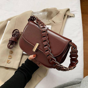 Vintage Wide Strap Design Shoulder Bags for Women Winter Fashion Pu Leather Crossbody Bag Trend Branded Female Saddle Handbags | Bag, Bags, Branded, Crossbody, Design, Fashion, Female, for, Handbags, Leather, Pu, Saddle, Shoulder, Strap, Trend, Vintage, Wide, Winter, Women | akolzol