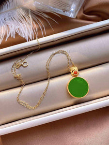 14K Gold Necklace Natural Jade Bizuteria Pendant Gemstone for Women Bijoux Femme Collares Jade Necklace Topaz Naszyjnik Jewelry | 14, Bijoux, Bizuteria, Collares, Femme, for, Gemstone, Gold, Jade, Jewelry, Naszyjnik, Natural, Necklace, Pendant, Topaz, Women | akolzol