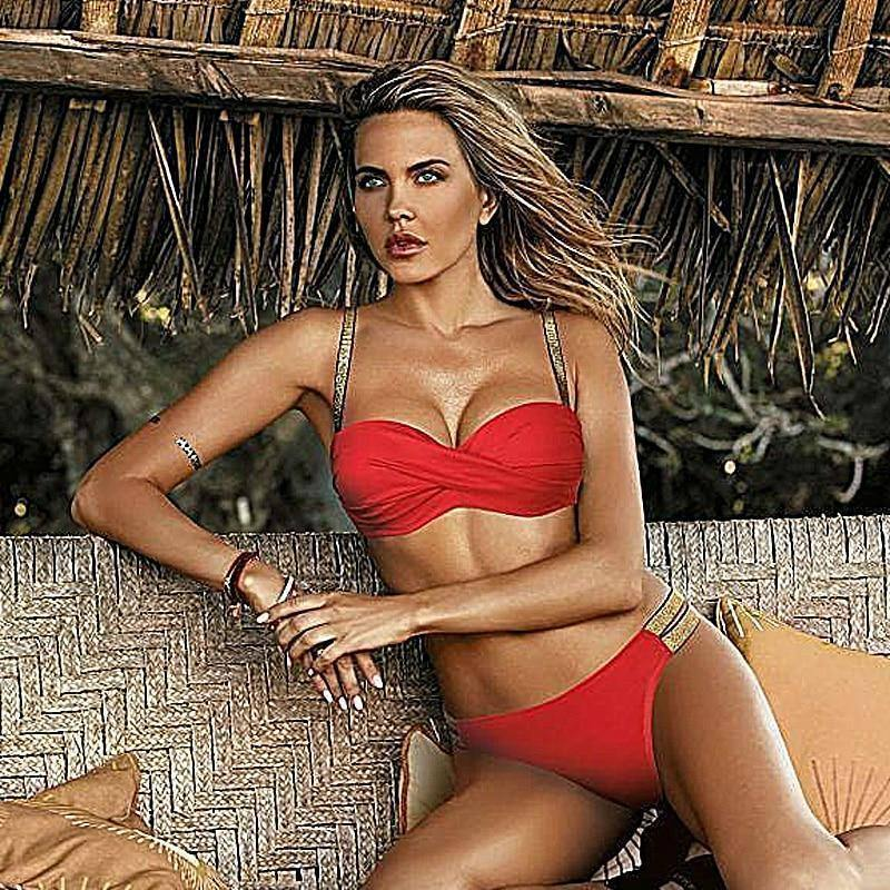 Push Up Sexy Bikini 2021 New Swimsuit Women Solid Bikinis Set Two Piece Swimwear Summer Beachwear Bathing Suit Brazilian Biquini | akolzol