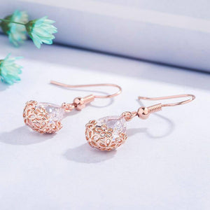 14K Rose Gold Diamond Earring Gemstone Bizuteria Orecchini aretes de mujer Garnet Drop Earrings bijoux femme Jewelry for Women (Gold) | 14, aretes, bijoux, Bizuteria, de, Diamond, Drop, Earring, Earrings, femme, for, Garnet, Gemstone, Gold, Jewelry, mujer, Orecchini, Rose, Women | akolzol
