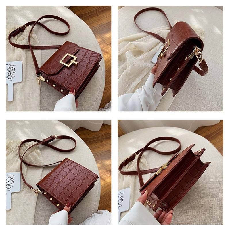 2020 New Crocodile Women's Handbags Flap Hasp Female Totes Vintage Messenger Shoulder Bags Casual Fashion Crossbody Bags Ladies | akolzol
