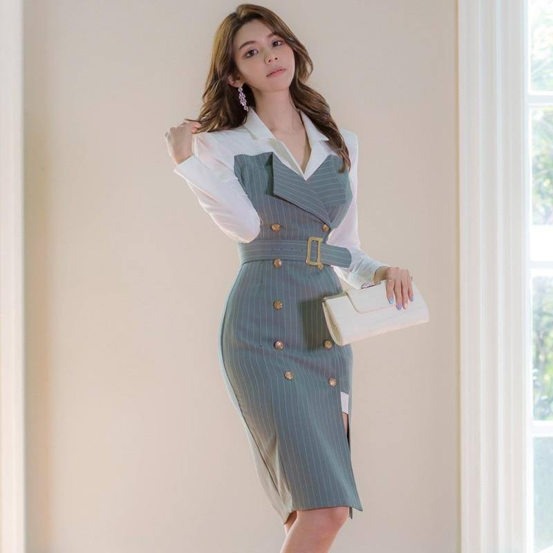 Winter Autumn Woman Sexy Dress Long Sleeve Quality Slim Double Breasted Stripes Dresses For Women 2020 Fashion Women's Clothing | 2020, Autumn, Breasted, Clothing, Double, Dress, Dresses, Fashion, For, Long, Quality, Sexy, Sleeve, Slim, Stripes, Winter, Woman, Women, Womens | akolzol