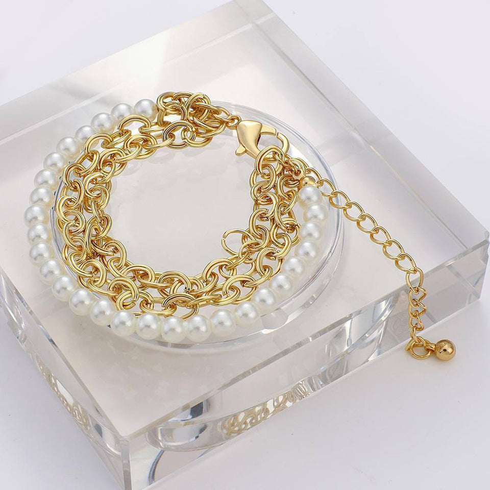 New Design Multilayer Metal Chunky Chain Bracelets Women Imitation Pearl Link Chain Couple Jewelry 2020 Gift | 2020, Bracelets, Chain, Chunky, Couple, Design, Flashbuy, Gift, Imitation, Jewelry, Link, Metal, Multilayer, New, Pearl, Women | akolzol