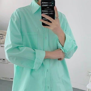 Spring Cotton Shirt Men's Fashion Solid Color Business Casual Shirt Men Korean Loose Long-sleeved Shirts Mens Dress Shirt M-2XL | Business, Casual, Color, Cotton, Dress, Fashion, Korean, Longsleeved, Loose, man fashion, Men, Men Shirt, Mens, Shirt, Shirts, Solid, Spring, XL | akolzol