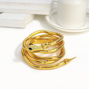 New Punk Multilayer Metal Alloy Metal Gold Color Snake Bracelets for Women Men Personality Fashion Jewelry Pulsera | Alloy, Bracelets, Color, Fashion, Flashbuy, for, Gold, Jewelry, Men, Metal, Multilayer, New, Personality, Pulsera, Punk, Snake, Women | akolzol