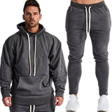 2020 New Two Pieces Hoodie Hooded Men Casual Cotton Fall / Winter Warm Sweatshirts+pants Sets Men's Casual Tracksuit Costume | akolzol