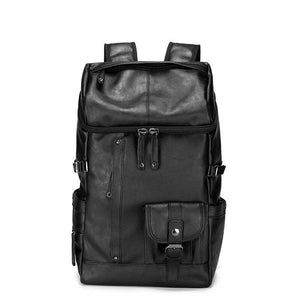 Korean Brand Men's Leather High Quality Backpack Youth Travel Rucksack School Laptop Bags Male Business Shoulder Bag Mochila | akolzol