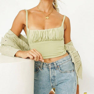 Summer Tight Crop Top Women Clothing Folds Sexy Halter Top Fitness Lady 2020 Fashion Woman's Clothing | 2020, Clothing, Crop, Fashion, Fitness, Folds, Halter, Lady, Sexy, Summer, Tight, Top, Womans, Women | akolzol