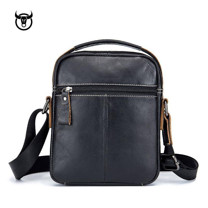 Genuine Leather Men's Crossbody Bag Vintage Cow Skin Man Messenger Bags Small Shoulder Bag for Male Casual Hand Carry Bag | akolzol