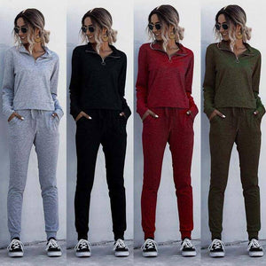 2020 Autumn Tracksuits Women Set 2 Piece Outfits Two Piece Set Women Sweatsuit Long Sleeve Sweat Suit Female Tracksuit For Women | akolzol