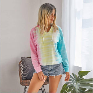 Autumn Streetwear Women Tie Dye Hoodie Clothes Fashion All-match Printing Gradient Color Pullover Loose Women's Fall Clothing | Allmatch, Autumn, Clothes, Clothing, Color, Dye, Fall, Fashion, Gradient, Hoodie, Loose, Printing, Pullover, Streetwear, Tie, Women, Womens | akolzol
