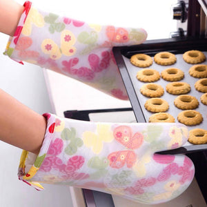 Thickened cotton double layer silicone gloves microwave oven baking cotton gloves | baking, cotton, double, gloves, layer, microwave, oven, silicone, Thickened | akolzol