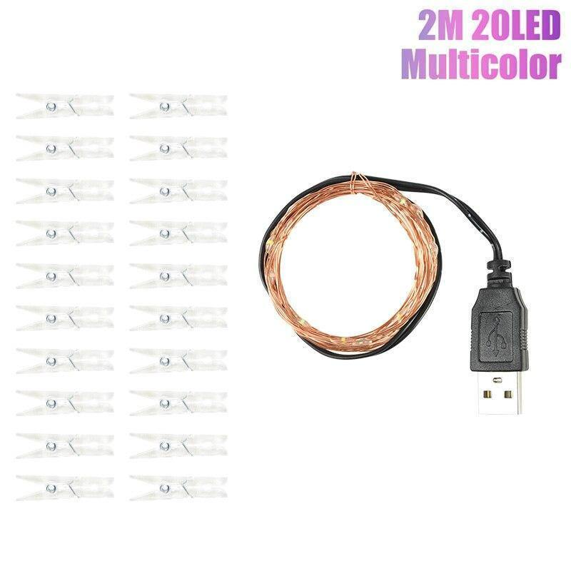 2M 20LED Transparent Clip Lamp Photo Picture Wall Fairy Light String  Battery USB Powered for Wedding Party Garland Decoration | 20, Battery, Clip, Decoration, Fairy, for, Garland, Lamp, LED, Light, Party, Photo, Picture, Powered, String, Transparent, USB, Wall, Wedding | akolzol