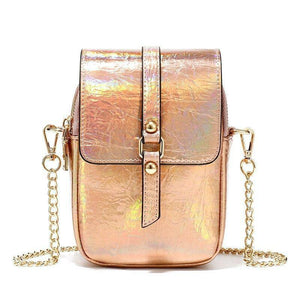 Fashion Women's Shoulder Bags New Designer Reflective Laser Chain Leather Handbags Casual Crossbody Bags For Women Female Tote | akolzol