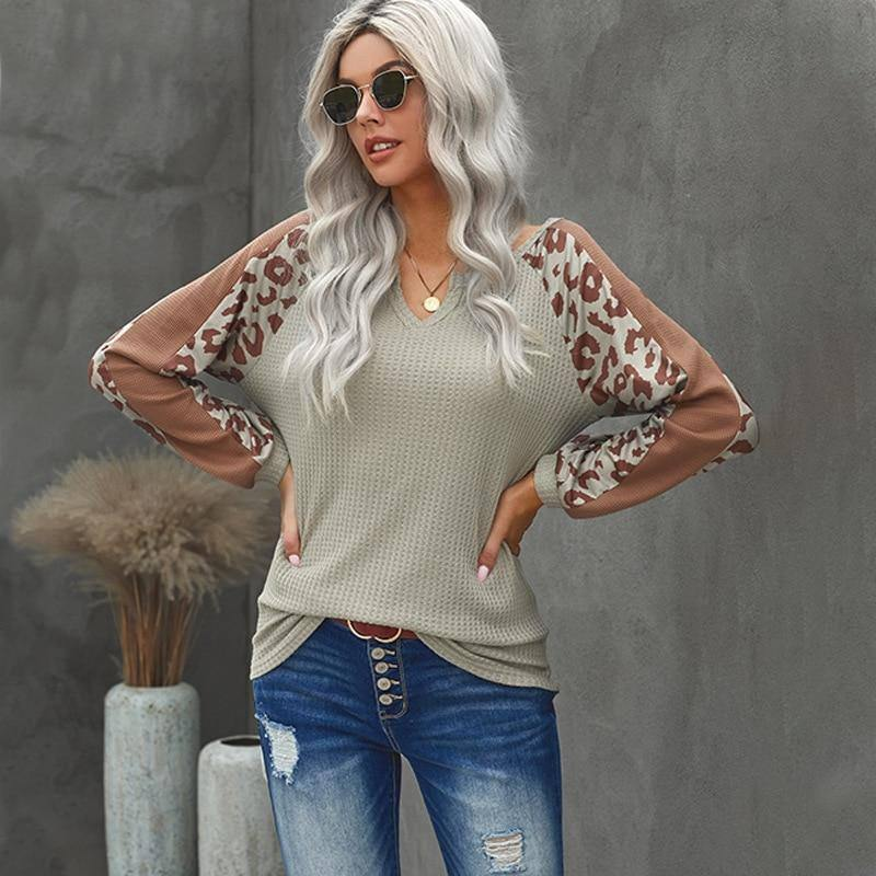 New Autumn And Winter Woman Knitted Clothes Leopard Stitching Color Long Sleeve Winter  For Top Clothing For Women's 2020 | 2020, And, Autumn, Clothes, Clothing, Color, For, Knitted, Leopard, Long, New, Sleeve, Stitching, Top, Winter, Woman, Womens | akolzol
