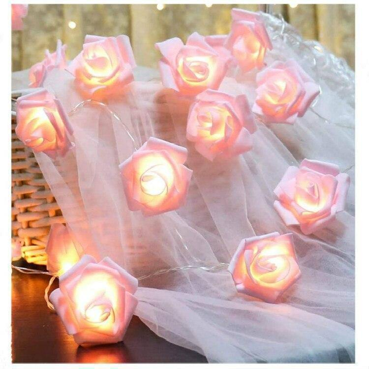 1.5M Artificial Rose Flower LED Light Wedding Party Garland Fairy Light String Decoration Valentine's Day Home Supplies | 15, Artificial, Day, Decoration, Fairy, Flower, Garland, Home, LED, Light, Party, Rose, String, Supplies, Valentines, Wedding | akolzol