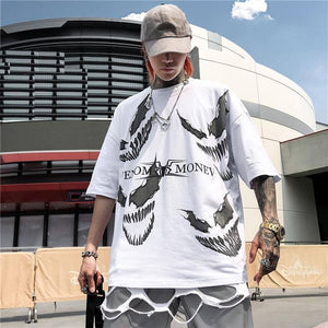 Venom Printed Tshirt Men Summer Hip Hop T Shirt Man 95% Cotton O Neck Streetwear Oversize T-shirt Male Clothing | akolzol