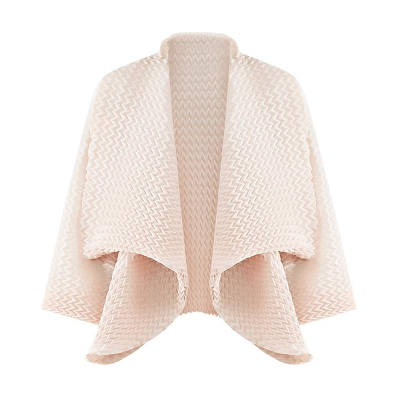 handmade pleated jacket for women 2020 basic Korean fashion autumn winter long bat sleeve plus size Scarf Collar coat | akolzol