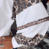 New Spring Autumn Women White Tshirts Long Sleeve Plus Size 2XL Loose Leopard Splicing Tops 2020 Fall Womens Clothing Fashion | 2020, Autumn, Clothing, Fall, Fashion, Leopard, Long, Loose, New, Plus, Size, Sleeve, Splicing, Spring, Tops, Tshirts, White, Women, Womens, XL | akolzol