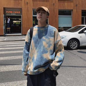 Autumn Hoodies Men Fashion Tie Dyed Printed Casual Cotton Hoodie Men Hooded Sweatshirt Man Streetwear Loose Hip Hop Hoody M-5XL | akolzol