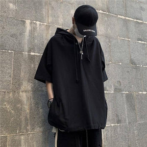 Men Hooded Hip Hop Tshirts Tee Mens Summer Fashion Causal Tshirt Male Streetwear Oversize T-shirts 2020 Clothes | akolzol