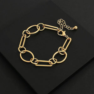 New Design Gold Color Chunky Geometric Thick Chains Bracelets for Women Fashion Jewelry Minimalist Couple Bracelet | Bracelet, Bracelets, Chains, Chunky, Color, Couple, Design, Fashion, Flashbuy, for, Geometric, Gold, Jewelry, Minimalist, New, Thick, Women | akolzol