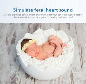 NEW Smart Music White Noise Voice Sensor Rechargeable Baby Infants Therapy Sound Machine Sleep Soother Portable (as picture) | akolzol
