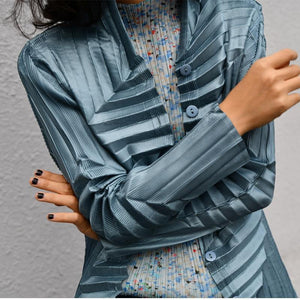 Style Designer Textured Hand Pleated Buttons blouse shirt women tunic 2020 Korean fashion plus size Aesthetic clothing | akolzol