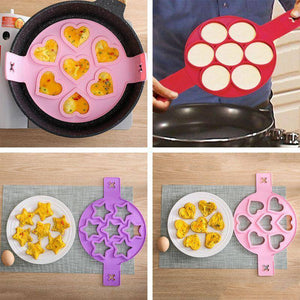 1Pc Egg Pancake Maker Silicone Non Stick Fantastic Ring Kitchen Baking Omelet Moulds Flip Cooker Egg Ring Mold | akolzol
