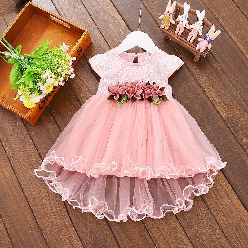 LILIGIRL 2 years Baby Girl Floral vestidos Dress Newborn Kids Flower Wedding Princess Dresses for Girls Elegant Party Clothes | akolzol