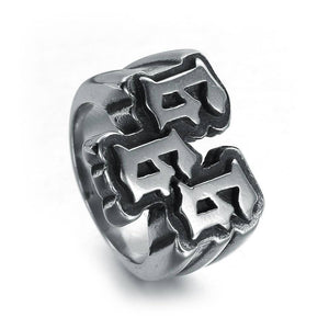 European and American men's punk stainless steel digital 666 ring titanium steel ring jewelry | akolzol