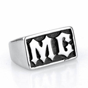 Stainless steel  MC rock rings Men's gothic titanium steel letters restoring ancient ways ring | akolzol