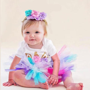 Unicorn Girls First Birthday Dress Tutu Baby Infant Christening Cake Dresses for Party Kids 1 Year Baby Girl PhotoShoot Costume | akolzol