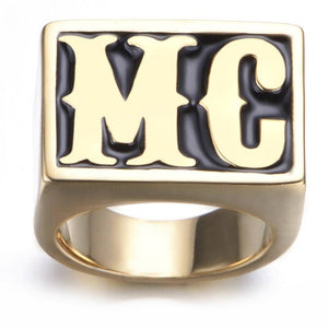 MC Titanium Steel Rings Jewelry Men's Fashion Punk Rings | akolzol