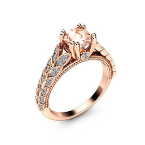 14K Rose Gold Diamond Row Cross Open Rings for Women Fine Jewelry Finger Bague Mini Anillos De 14K topaz Bizuteria Ring box | akolzol