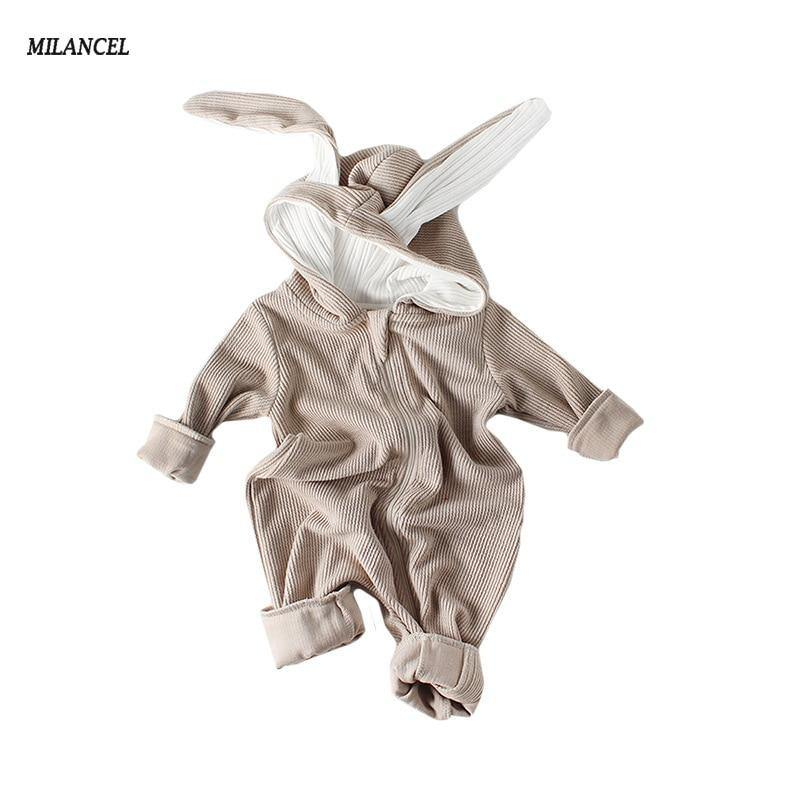 MILANCEl Baby Clothes Rabbit Style Baby Girls Rompers Cute Bunny Ear Baby Boys Romper Cotton Newborn Baby Clothes Jumpsuits | akolzol