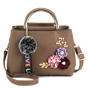Fashion Flowers Designer Pu Leather Crossbody Bags for Women Vintage Small Shoulder Handbags Female Casual Top-Handle | akolzol