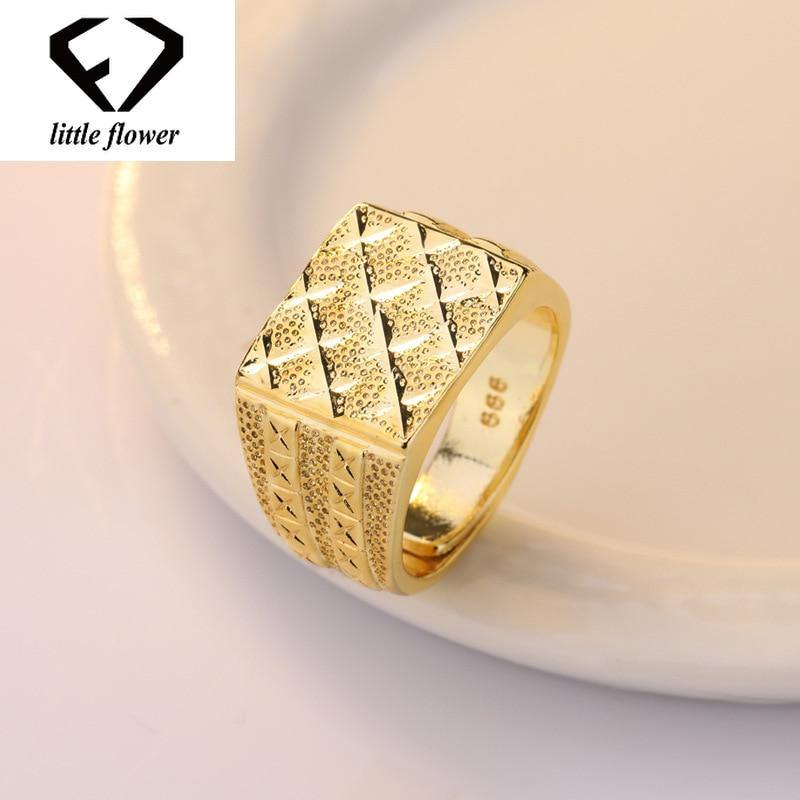 Men's 14K Gold Diamond Ring Anillos De Bague Bizuteria Etoile Diamante Open Rings Wedding Jewelry Gem Hip Hop Big Rings Stones | akolzol