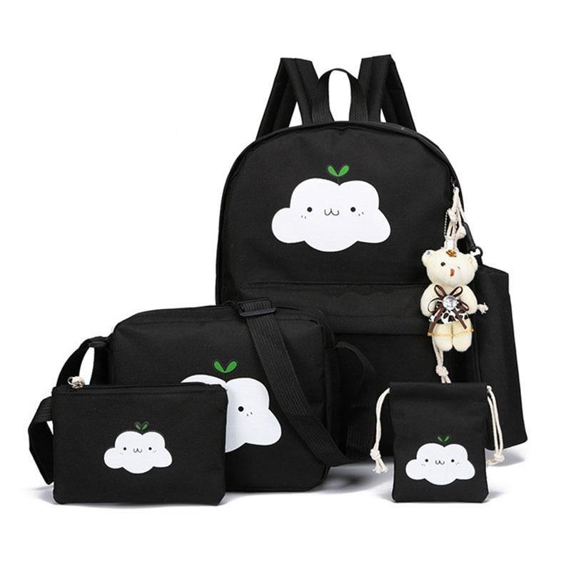 New Fashion Nylon Backpack Cute Cloud Printing Schoolbags School For Teenagers Casual Children Rucksack Travel Bags | akolzol