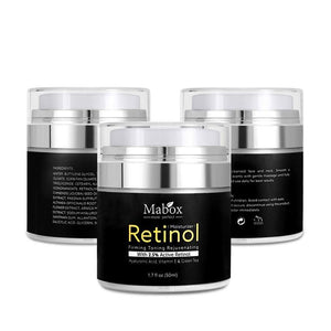 Mabox Retinol 2.5% Moisturizer Face Cream Vitamin E Collagen Retin Anti Aging Wrinkles Acne Hyaluronic Acid Whitening Cream | akolzol