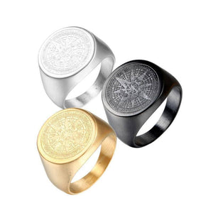 European and American stainless steel jewelry stainless steel compass ring men's ring | akolzol