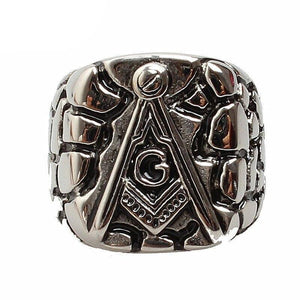 Wholesale Fashion Stainless Steel Masonic Ring for Men, master masonic signet ring, freemason ring jewelry | akolzol