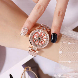 Hot Sale Fashion Diamond Watches Women Quartz Women Watches Top Brand Luxury 2018 Reloj Mujer Rose Gold Wrist Watches For Women | akolzol