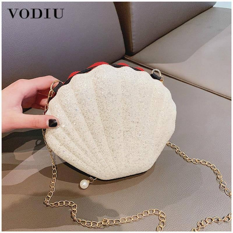 Fashion Women's Shoulder Bags Summer New Sweet Cute Sequins Shell Bags Wild Messenger Bag Chain Zipper Handbag | Bag, Bags, Chain, Cute, Fashion, Handbag, Messenger, New, Sequins, Shell, Shoulder, Summer, Sweet, Wild, Womens, Zipper | akolzol